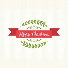 Vintage christmas wreath background Free Vector