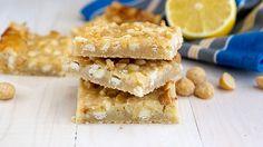 Lemon Magic Bars (w/macadamia nuts and refrig cookie crust)