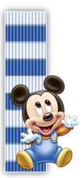 Alfabeto Mickey Bebé con fondo en rayas celestes. - Oh my Alfabetos! Mickey Mouse Letters, Baby Mickey Mouse, Disney Fun, Baby Disney, Alfabeto Disney, Disney Alphabet, Mickey Party, Alphabet And Numbers, Mickey And Friends