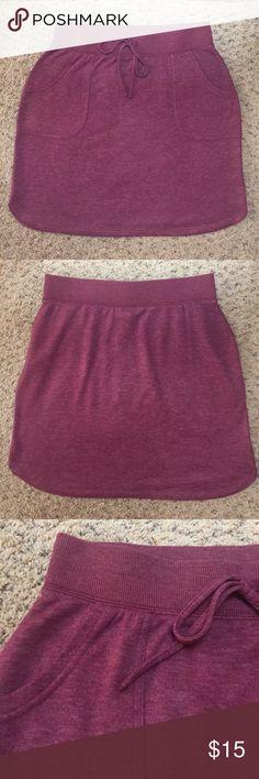 """Lightweight Sweatshirt Skirt in Berry Soooo soft!!!  Looks brand new!  14"""" waist, 19"""" length Sonoma Skirts Mini"""
