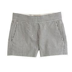 J.Crew - Girls' seersucker short.  with grey cardy