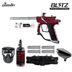 Azodin Blitz 3 Starter HPA Paintball Gun Package - Red