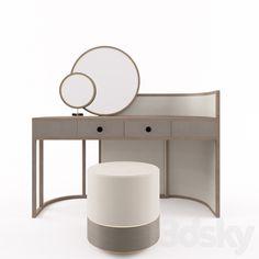3d models: Dressing table - Parma Dresser Frato Dresser Design, Vanity Room, Furniture Dressing Table, Dresser Table, Ultra Modern Furniture, Console Table Styling, Desk Furniture, Furniture Design Modern, Table Design