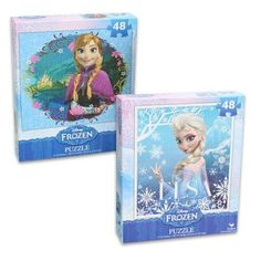 Frozen Princesses Anna and Elsa 48 Piece Puzzles (Set of 2 Puzzles) (047754288322) 9.125 IN X 10.375 IN