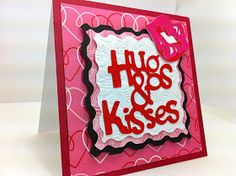 Everyday Cricut: Hugs and Kisses Card with Cricut Tie the Knot Cartridge