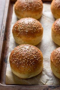 Sourdough Hamburger Buns Recipe, Sourdough Recipes, Sourdough Bread, Mini Burger Buns, Mini Burgers, Burger Bread, Bread Machine Recipes, Bread Recipes, Bread And Pastries