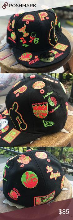 a9f56bdc08b1f New Era Throwbacks Vintage Logos NBA Hat Cap 76-77 Teams  Clippers Capital  bullets