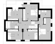 Projekt domu Montreal 160,2 m2 - koszt budowy 251 tys. zł - EXTRADOM Montreal, Bungalows, House Plans, Floor Plans, How To Plan, Home, Blueprints For Homes, Home Plans, Ad Home