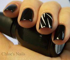 Chloe's Nails, 1/16/11: Black Swan movie night mani