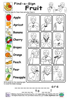 printable sign language pictures - Bing images