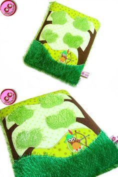 Tablet, eReader Tasche Robin Hood vogel_frei von artistalista - textile Kostbarkeiten auf DaWanda.com