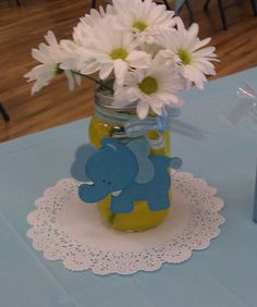 Baby Boy Shower Centerpieces.