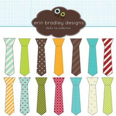 digital tie clipart pack