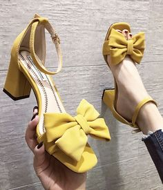Yellow High Heels, Cute High Heels, Red Heels, Yellow Shoes Heels, Crazy High Heels, Sock Shoes, Cute Shoes, Me Too Shoes, Shiny Shoes