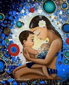 Mother and child art. baby in heaven . art for mom . Pregnancy Art, Pregnancy And Infant Loss, Mother Art, Mother And Child, Painting For Kids, Art For Kids, Jean Christophe, Child Loss, Baby Tattoos