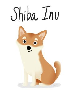 Shiba Inu - Cute Dog Series Art Print