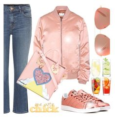 """""""One Cute Chick 👄"""" by jacque-reid ❤ liked on Polyvore featuring J Brand, Acne Studios, adidas Originals, Victoria Beckham, LSA International and Sophie Hulme"""