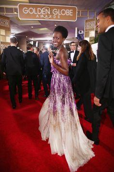 Lupita Nyong'o at the Golden Globes #redcarpetgoals
