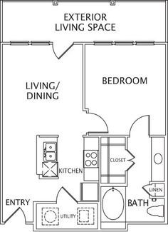 400 Sq Ft Apartment Floor Plan   Google Search. Basement ApartmentStudio ...