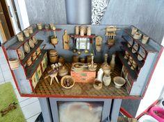 Antike Puppenküche-C.Hacker-komplett m.altem Zubehör