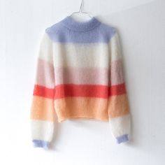 Knitting Patterns Mohair Knitting pattern in danish – english version is in the making. Pull Crochet, Knit Crochet, Knitting Designs, Knitting Patterns, Mohair Sweater, Sweater Weather, Passion For Fashion, Dress To Impress, Knitwear