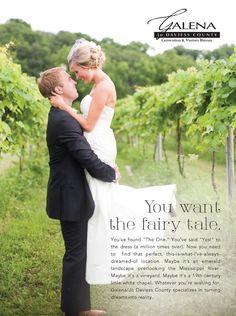 Find the Fairy Tale in Galena & Jo Daviess County! #wedding #bride #midwest #TheKnot (Photo: Primavera Studio)