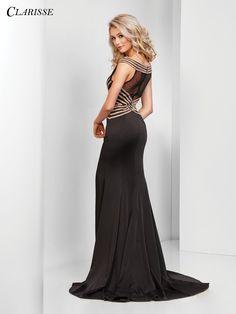 Cap sleeve Gold Embellished Prom Dress 3436 | 2 Colors!