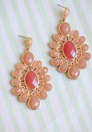 coral earrings <3