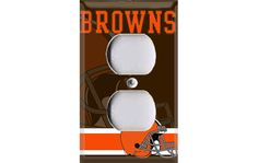 Cleveland Browns Football Outlet Cover on Etsy, $6.99 Go Browns, Browns Fans, Football Man Cave, Man Cave Office, Cleveland Browns Football, Sports Decor, Record Art, Outlet Covers, Basement Ideas