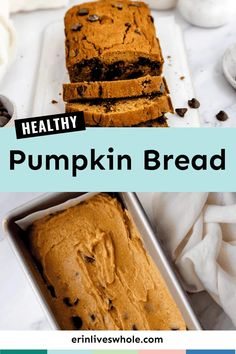 A classic pumpkin bread, made healthier! This version of my pumpkin bread uses white whole wheat flour as a base and is lightly sweetened with maple syrup. It's completely dairy free, nut free, and refined sugar free. #erinliveswhole #pumpkin #pumpkinbread #fall Healthy Pumpkin Bread, Pumpkin Spice Muffins, Pumpkin Puree, Nut Free, Dairy Free, Baking Flour, Whole Wheat Flour, Fall Baking, Gluten Free Baking