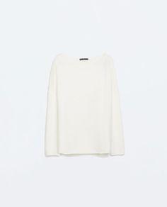 BOAT NECKED SWEATER // Zara