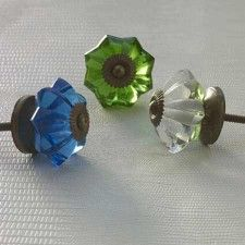 Glass Knobs for furniture pulls.... Nice finishing touch!!!