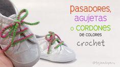 Agujetas o pasadores para zapatillas o sneackers tejidos a crochet paso a paso :)