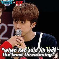 "jongtaekwoon: "" ""Jin and Ken's friendship (❁´▽`❁)*✲゚* (x/x) "" """
