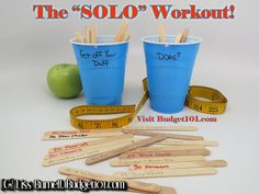 """Can't afford a Gym membership? Make your own """"SOLO"""" workout and watch the inches melt away! Here's how. . . (Click on photo for more)"""
