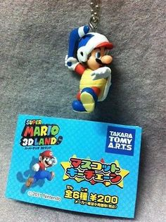 "Japan Gashapon ""Super Mario 3D Land"" Mario Mini Figure - BOOMERANG MARIO"