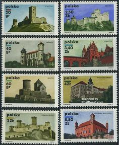 1971 Poland - PostBeeld online Stamp Shop Castles - Used Stamps Mint NH Stamps - Stamps Series. Postage Stamps, Polish, Collections, Seals, Poland, Door Bells, Monuments, Castles, Venezuela