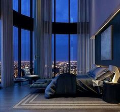 The most amazing luxury homes ever: brilliant architecture and brilliant interio… - Decoration, Room Decoration, Decoration Appartement, Home Decor, Bedroom Decor Dream Rooms, Dream Bedroom, Home Decor Bedroom, Bedroom Ideas, City Bedroom, Mansion Bedroom, Luxury Master Bedroom, Bedroom Furniture, Bedroom Designs