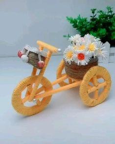Diy Crafts For Home Decor, Diy Crafts Hacks, Diy Crafts For Gifts, Diy Arts And Crafts, Diy Crafts Videos, Craft Stick Crafts, Creative Crafts, Jute Crafts, Easy Paper Crafts