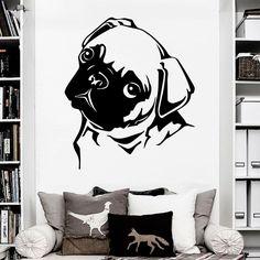 Wall Decal Dog Bulldog Animal Puppy Art Kids Pet Shop Decor Sticker Murals AM112 #Stickalz