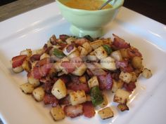 Jicama hash browns - Buttoni's Low Carb Recipes.  Visit us at: https://www.facebook.com/LowCarbingAmongFriends