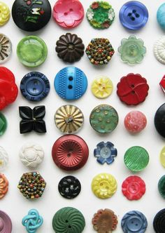 Lovely buttons from my button boxes! Judith Brown Jewellery