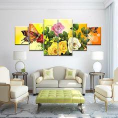 cuadros para la sala bellas flores
