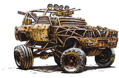 "Check Out This Incredible Early Concept Art For ""Mad Max: Fury Road"""