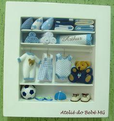 Mini Closet Bebê Menino  roseaneatelier.blogspot.com