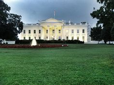 Managed to snap this tonight between downpours. #whitehouse #dc #travel
