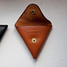 kusaka koushi leather coin pouch