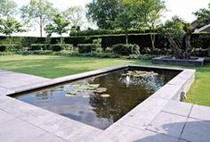 modern, strak, tuin, idee