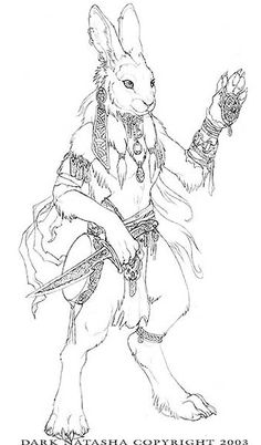 The Art of Dark Natasha - Rabbit Shaman