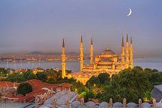 Blue Mosque on the Bosporus at Dusk